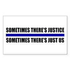 Justice Blue Line Rectangle Decal