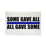 Some Gave All Blue Line Rectangle Magnet