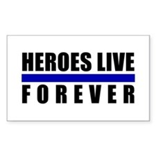 Heroes Blue Line Rectangle Decal