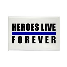 Heroes Blue Line Rectangle Magnet