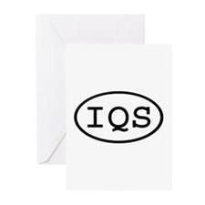 IQS Oval Greeting Cards (Pk of 20)