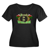 Proud to be Welsh Women's Plus Size Scoop Neck Dar