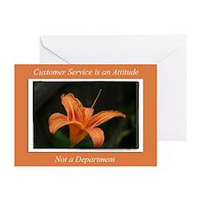 Customer Service Orange Lily Greeting Cards (Pk of