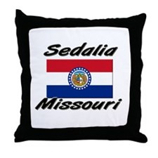 Sedalia Missouri Throw Pillow