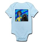 DOG WITH DREADLOCKS Infant Bodysuit