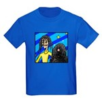 DOG WITH DREADLOCKS Kids Dark T-Shirt