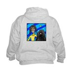 DOG WITH DREADLOCKS Kids Hoodie