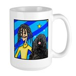 DOG WITH DREADLOCKS Large Mug