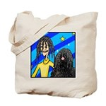 DOG WITH DREADLOCKS Tote Bag