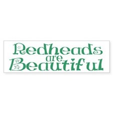 Redheads Are Beautiful Bumper Bumper Sticker