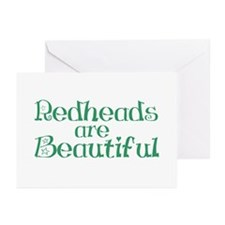 Redheads Are Beautiful Greeting Cards (Pk of 10)