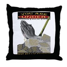 under construction hand throw pillow