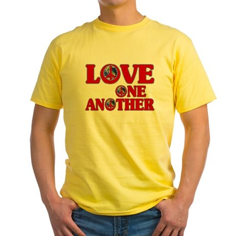 Love One Another Men's Yellow T-Shirt