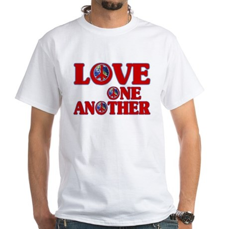 Love One Another Men's White T-Shirt