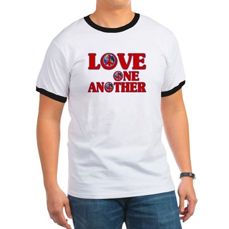 Love One Another Men's Ringer Tee