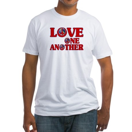 Love One Another Men's Fitted T-Shirt