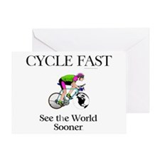 TOP Cycle Fast Greeting Card