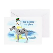Great Dane MerleUC Giving Greeting Cards (Pk of 10