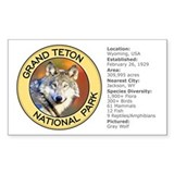 Grand Teton NP (Wolf) Rectangle Decal