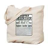 Jack the Ripper Wanted Poster Tote Bag