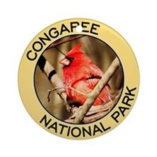 Congaree NP (Cardinal) Ornament (Round)