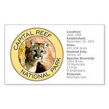 Capital Reef NP (Mountain Lion) Sticker (Rectangul