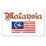Malaysian Flag Rectangle Decal