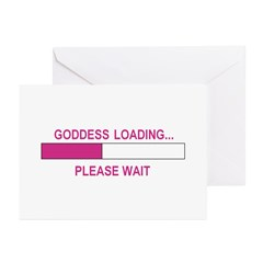 GODDESS LOADING Greeting Cards (Pk of 20)