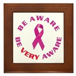 Breast cancer. Be VERY aware Framed Tile