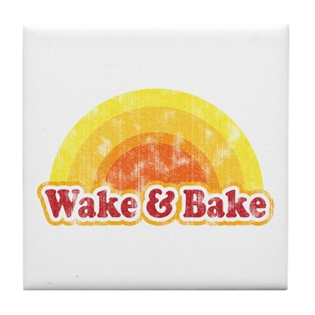 Wake and Bake Tile Coaster