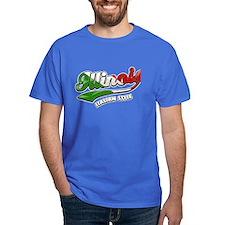 Illinois Italian Style T-Shirt