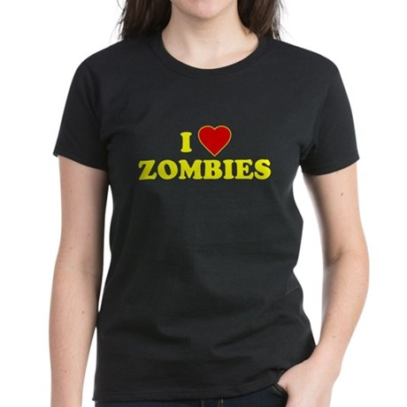 I Love [Heart] Zombies Womens T-Shirt