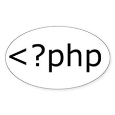 php programming Oval Decal