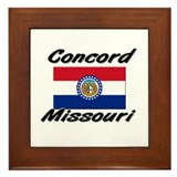 Concord Missouri Framed Tile