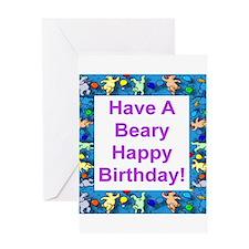 Beary Happy Birthday Greeting Card