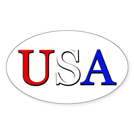 USA Oval Sticker