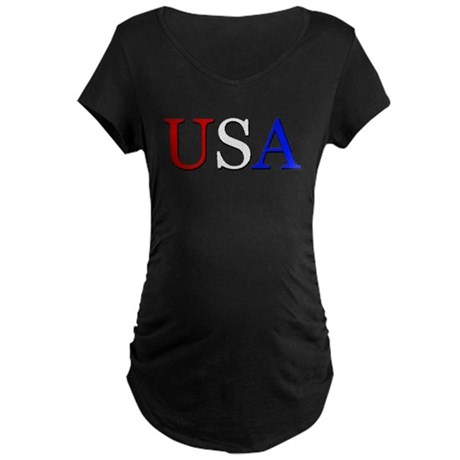 USA Maternity Dark T-Shirt
