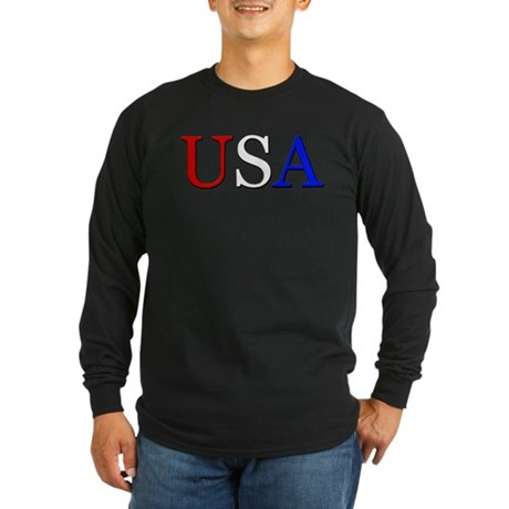 USA Long Sleeve Dark T-Shirt