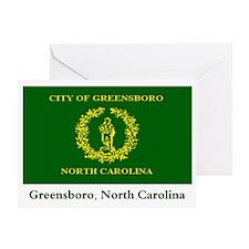 Greensboro NC Flag Greeting Card