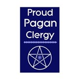 Proud Pagan Clergy Rectangle Decal