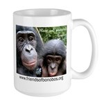 Friends of Bonobos Large Mug