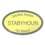 Spoiled Stabyhoun On Board Oval Decal
