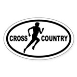 Cross Country Runner Oval Decal