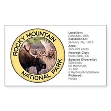Rocky Mountain NP (Moose) Rectangle Decal