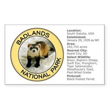 Badlands NP (Black-Footed Ferret) Decal