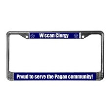 Wiccan Clergy License Plate Frame