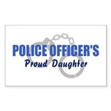 Police Proud Daughter Rectangle Bumper Stickers