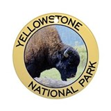 Yellowstone NP (Bison) Ornament (Round)