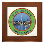 State of Washington Free Mason Framed Tile