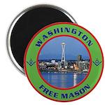 State of Washington Free Mason Magnet